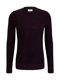 birdseye sweater - 25546/purple black birdseye jac