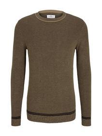 birdseye sweater - 25548/black beige birdseye jacq