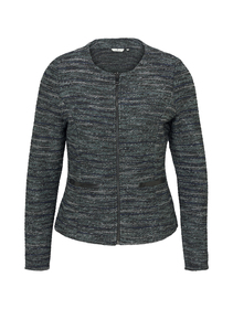 blazer boucle, mint black white boucle design