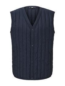 padded v-neck vest, Sky Captain Blue