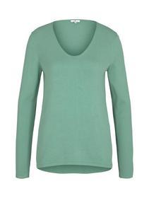 sweater basic v-neck
