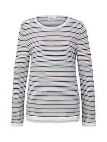 sweater new ottoman, peach multicolor stripe