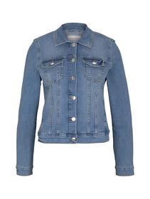 easy denim jacket, Used Light Stone Blue Denim