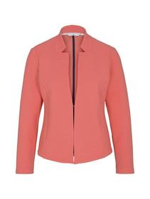 blazer with structure, strong peach tone