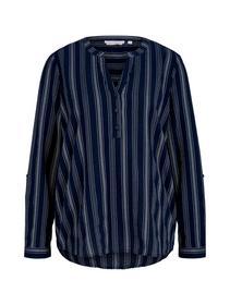 striped tunic, navy white vertical stripe