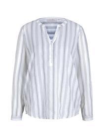 striped tunic, white blue vertical stripe