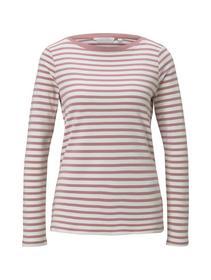 interlock with contrast neck, rose white stripe