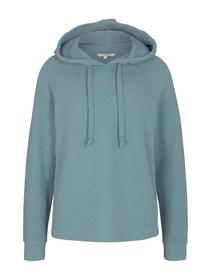 brushed hoodie sweat, Mineral Stone Blue