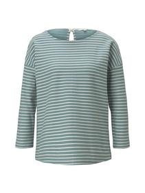 loose structured stripe tee, mint structure stripe