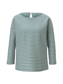 loose structured stripe tee