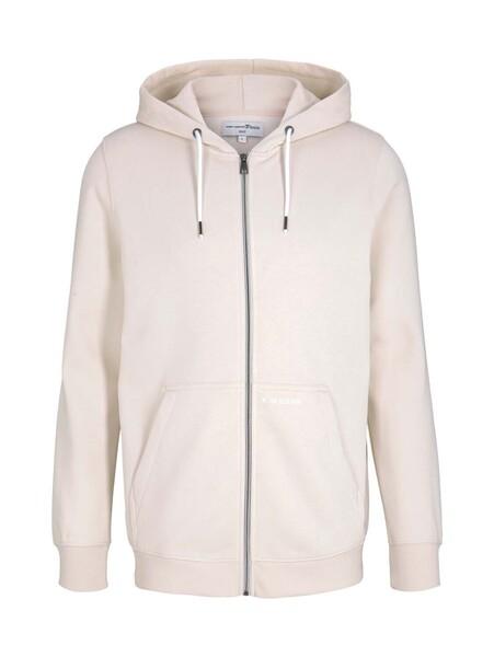 hoody jacket w. print, light almond