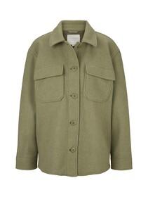 wool optic shirt jacket