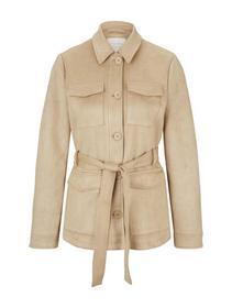 velours shirt jacket, hazelnut beige