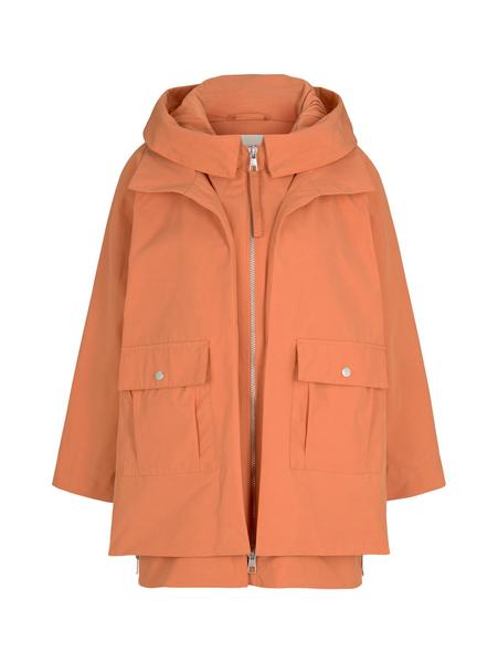 technical parka, dull coral