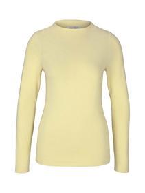 soft mock neck longsleeve, soft yellow