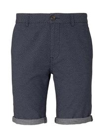 chino shorts yarn dyed - 26348/navy white minimal