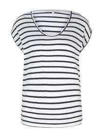striped relaxed tee, navy white stripe