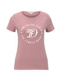 basic jersey print tee - 25901/cozy rose