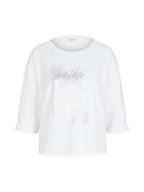 T-shirt overcut shoulder