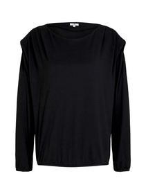 T-shirt boatneck shoulderpads