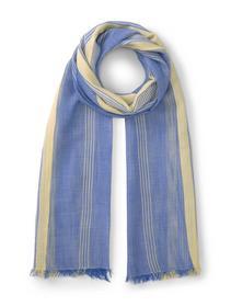 striped fluent scarf, creme yellow structured stripe