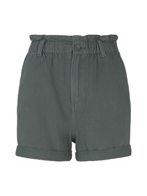Constructed Paperbag Shorts, dusty pine green