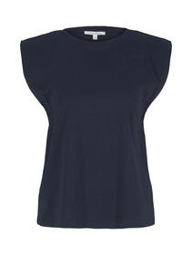 wide shoulder tee, Sky Captain Blue