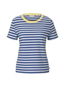 relaxed stripe tee, horizontal blue white stripe