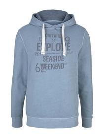 washed hoodie with print
