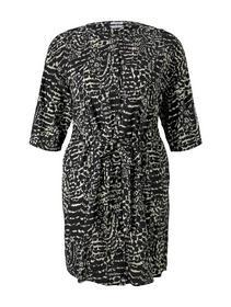 Damen Kleid dress shirt style with belt