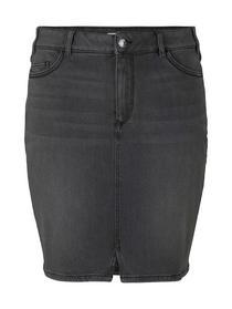 Damen Rock skirt denim with front slit