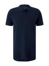 polo with washed look, Sky Captain Blue