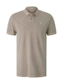 polo with washed look, sand
