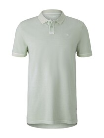 polo with washed look - 25132/smooth green