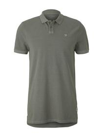 polo with washed look, Greyish Shadow Olive