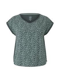Damen T-shirt mix match v-neck