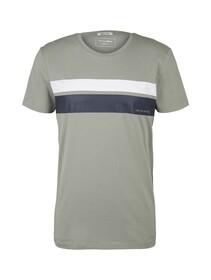 T-shirt w. striped chestprint
