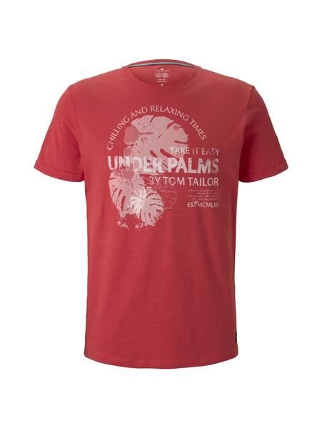t-shirt with summer print, Plain Red