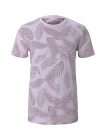 inside printed T-shirt - 27164/peach inside palm l
