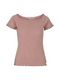 striped carmen tee - 26828/coral white stripe
