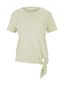organic tee with knot, light dusty green