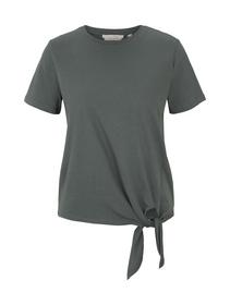 organic tee with knot, dusty pine green