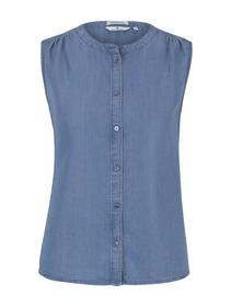 blouse top denim look, Blue Denim