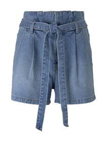 Paperbag denim shorts - 10118/Used Light Stone Blu
