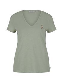 organic v-neck tee - 26677/light dusty green