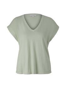 v-neck tee with garment dye - 26677/light dusty gr