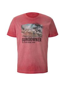 overdyed t shirt with print