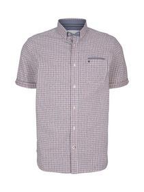 regular check with print shirt