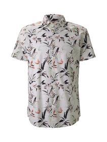 printed slub shirt