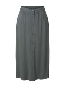 midi skirt with buttons, dusty pine green